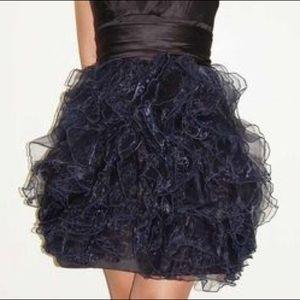 Zac Posen for Target Navy Ruffle Skirt